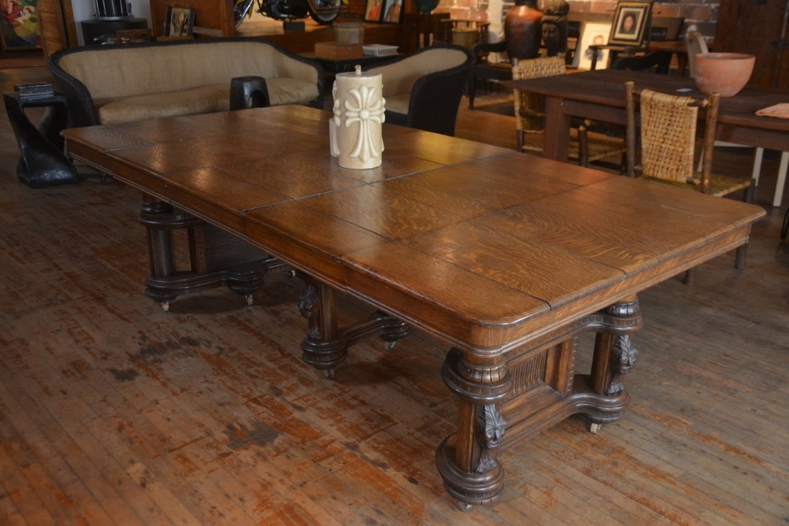 Large Dining Table On Wheels Antiquated Fine Arts